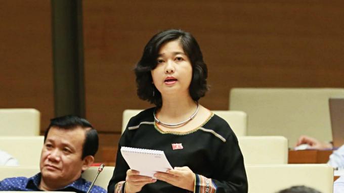 Đại biểu Ksor H'Bơ Khăp đoàn đại biểu quốc hội Gia Lai